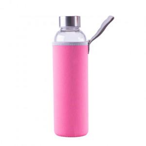 Steuber steklena flaška v etuiju 550ml, roza