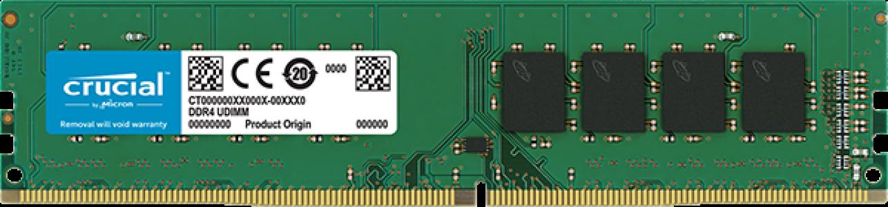 Crucial 16GB DDR4-2666 UDIMM PC4-21300 CL19, 1.2V