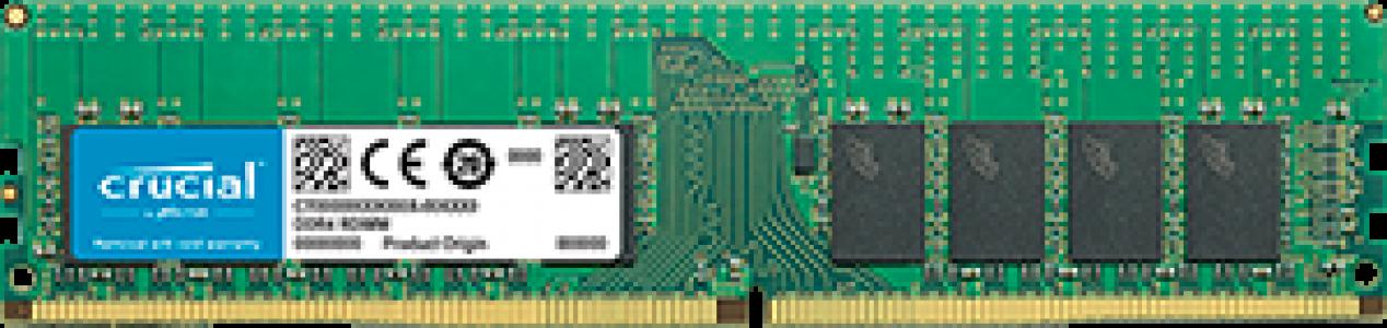 Crucial 16GB DDR4-2666 RDIMM PC4-21300 CL19, 1.2V ECC Registered Single Ranked