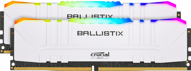 Crucial Ballistix RGB White 32GB Kit (2x16GB) DDR4-3600 UDIMM PC4-28800 CL16, 1.35V