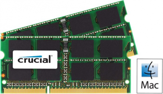 CRUCIAL 16GB Kit (8GBx2) DDR3L 1600 PC3-12800 CL11 SODIMM za prenosnike in Mac