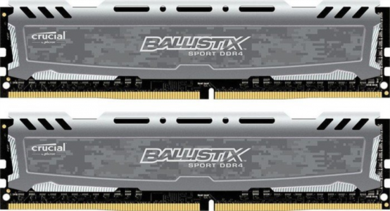 CRUCIAL 16GB Kit (8GBx2) DDR4 2400 CL16 1.2V DIMM Ballistix Sport LT