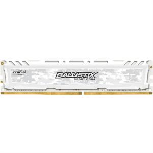 Crucial Ballistix Sport LT White 16GB DDR4-2400 UDIMM PC4-19200 CL16, 1.2V