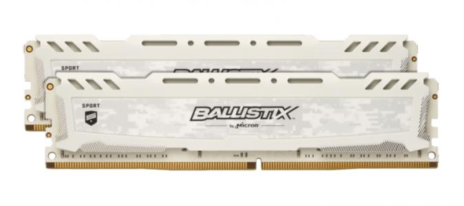CRUCIAL 16GB Kit (8GBx2) DDR4 2666 CL16 1.2V DIMM Ballistix Sport LT, bel