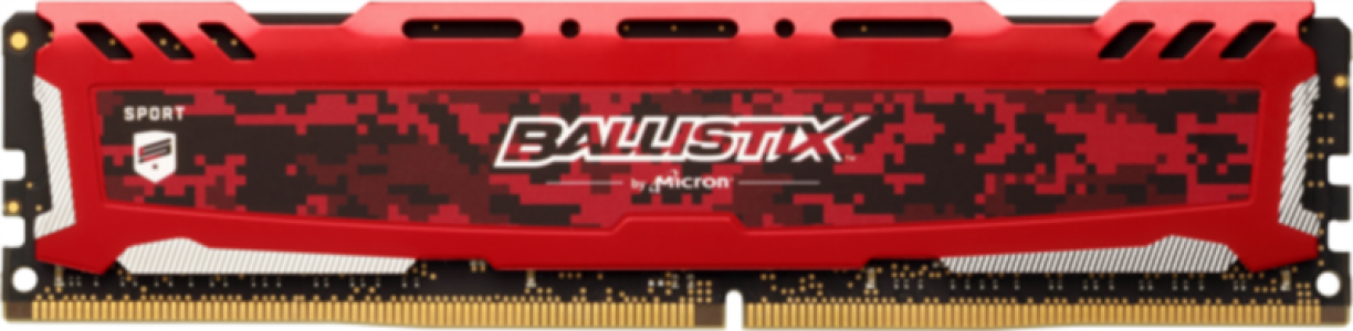 Crucial Ballistix Sport LT Red 16GB DDR4-2666 UDIMM PC4-21300 CL16, 1.2V