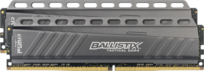CRUCIAL 16GB kit (8GBx2) DDR4 2666 CL16 DR x8 1.2V DIMM Ballistix Tactical