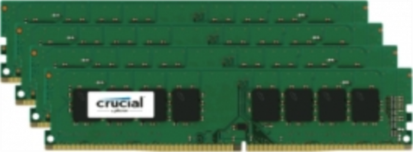 CRUCIAL 32GB KIT (8GBx4) DDR4 2400 CL17 1.2V DIMM Single Ranked
