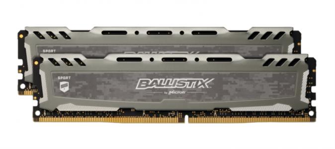 CRUCIAL 32GB Kit (16GBx2) DDR4 2666 CL16 1.2V DIMM Ballistix Sport LT, siv