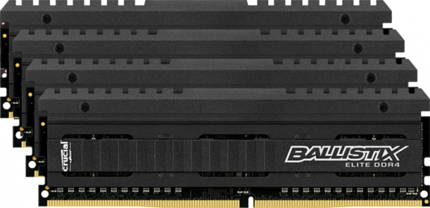 Crucial Ballistix Elite 32GB Kit (4x8GB) DDR4-2666 UDIMM PC4-21300 CL16, 1.2V
