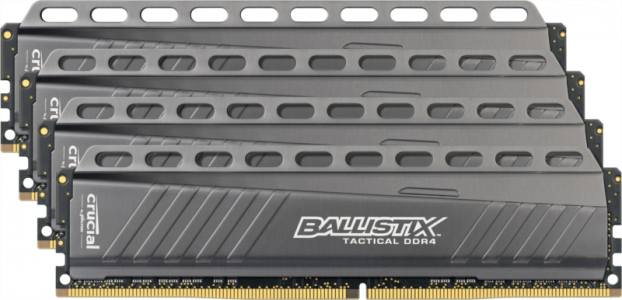 CRUCIAL 32GB kit (8GBx4) DDR4 2666 CL16 DR x8 1.2V DIMM Ballistix Tactical