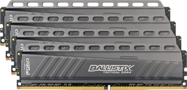 Crucial Ballistix Tactical 32GB Kit (8GBx4) DDR4-3000 UDIMM PC4-24000 CL15, 1.35V