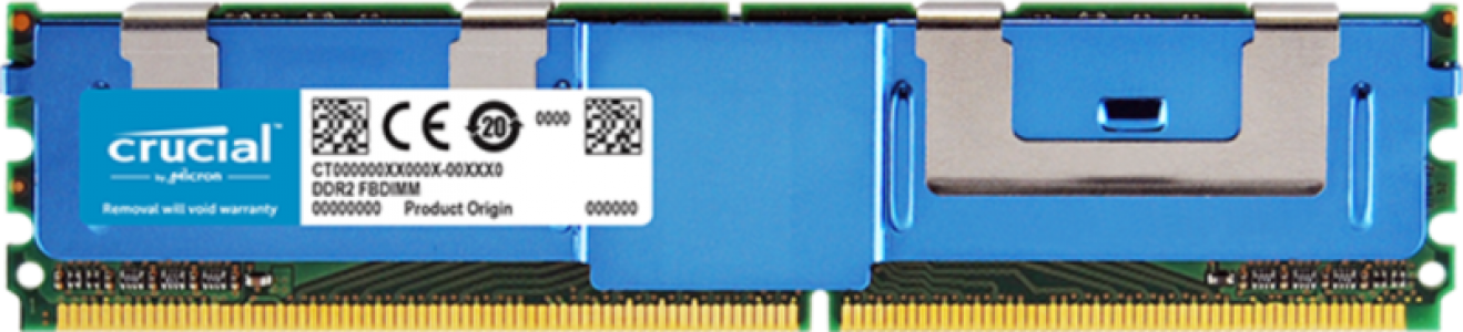 Crucial 4GB DDR2-667 FBDIMM PC2-5300 CL5, 1.8V ECC Registered Fully Buffered