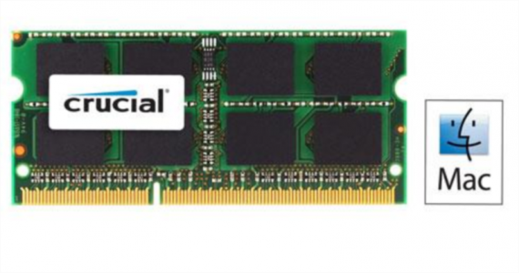 CRUCIAL 4GB DDR3 1066 PC3-8500 CL7 SODIMM za prenosnike in Mac