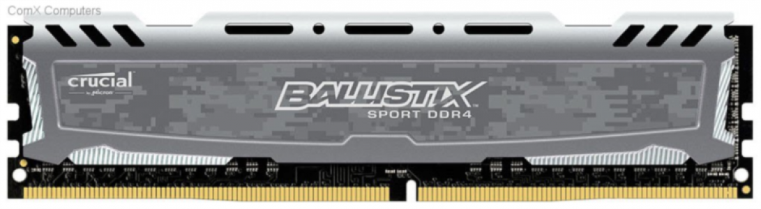 Ballistix Sport LT Gray 4GB DDR4-2400 UDIMM PC4-19200