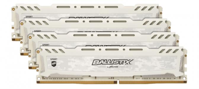CRUCIAL 64GB Kit (16GBx4) DDR4 2666 CL16 1.2V DIMM Ballistix Sport LT, bel
