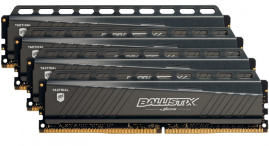 CRUCIAL 64GB KIT (16GBx4) DDR4 3000 CL15 1.35V DIMM Ballistix Tactical