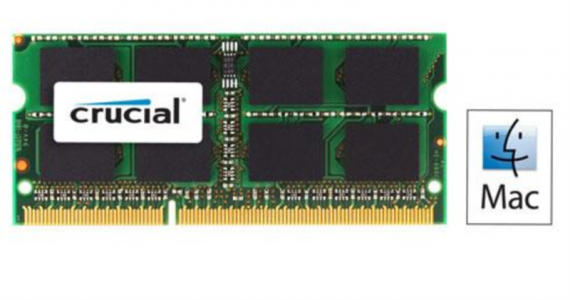 CRUCIAL 8GB DDR3L 1600 PC3-12800 CL11 SODIMM za prenosnike in Mac