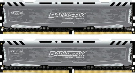 CRUCIAL 8GB Kit (4GBx2) DDR4 2400 CL16 1.2V DIMM Ballistix Sport LT