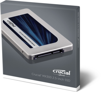 "Crucial MX300 525GB SSD SATA3 2.5"" disk 7mm + 9.5mm adapter"