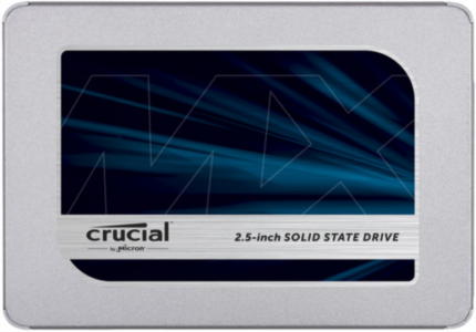 Crucial MX500 250GB SATA 2.5 7mm (z 9.5mm adapter) Internal SSD