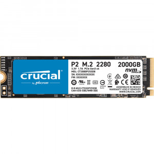 CRUCIAL P2 SSD 2TB M.2 80mm PCI-e 3.0 x4 NVMe, 3D QLC