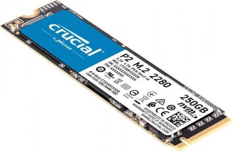 CRUCIAL P2 SSD 250GB M.2 80mm PCI-e 3.0 x4 NVMe, 3D QLC,