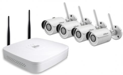 DAHUA IP Wi-Fi video nadzorni komplet (NVR4104-W/4-HFW1120S-W)