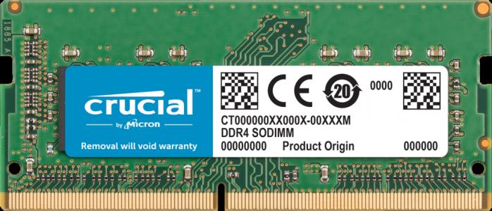 Crucial 8GB DDR4-2666 SODIMM PC4-19200 CL19, 1.2V za Mac