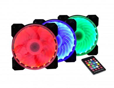 SPIRE X2 Magic Lantern SET 120mm LED ventilatorjev z daljinskim upravljalnikom barv