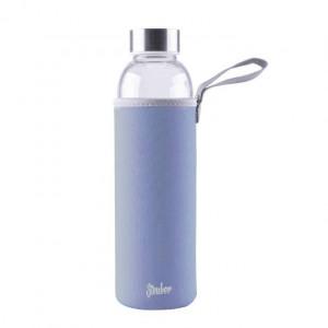 Steuber steklena flaška v etuiju 1000ml, modra