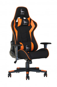 GEMBIRD Scorpion Gaiming stol, črno, oranžen