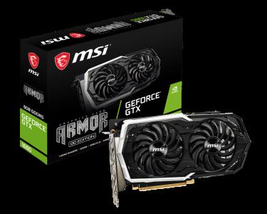 Grafična kartica MSI GeForce GTX 1660 ARMOR 6G OC, 6GB GDDR5, PCI-E 3.0
