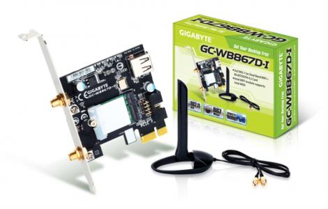 Gigabyte GC-WB867D-I razširitvena kartica za WiFi 802.11ac in Bluetooth 4.2, PCI-E