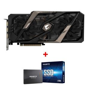 Grafična kartica GIGABYTE GeForce RTX 2080 AORUS, 8GB GDDR6, PCI-E 3.0 + darilo GRATIS 120GB SSD