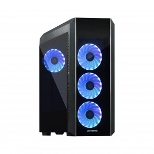 Chieftec SCORPION III USB3.1 ATX TORNADO RGB ohišje, črno