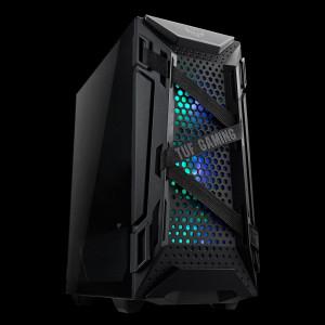 ASUS TUF GAMING GT301 AURA RGB osvetljeno ohišje, črno