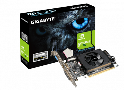 Grafična kartica GIGABYTE GeForce GT 710, 2GB GDDR3, PCI-E 2.0