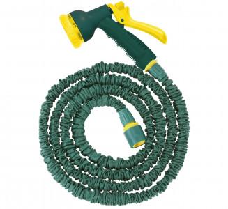 Steuber raztegljiva cev za zalivanje vrta, zelena, 24,8m