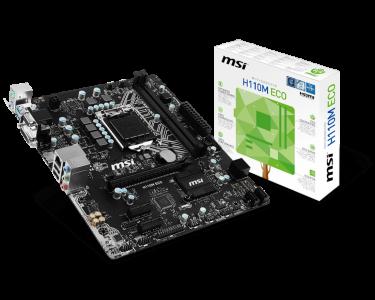 MSI H110M ECO, DDR4, SATA3, HDMI, USB3.1Gen1, LGA1151 mATX