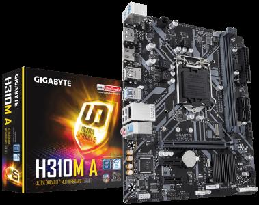 GIGABYTE H310M A, DDR4, SATA3, DP, USB3.1Gen1, LGA1151 mATX
