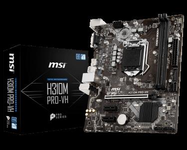 MSI H310M PRO-VH, DDR4, SATA3, HDMI, USB3.1Gen1, LGA1151 mATX