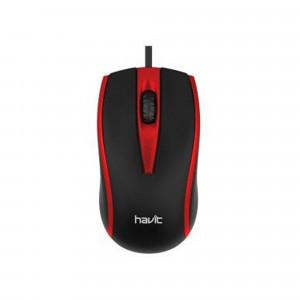 HAVIT USB optična miška HV-MS871 - Črna / rdeča