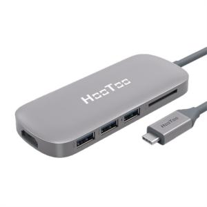 HooToo USB-C hub 3v1 za MacBook Pro - space grey HT-UC001