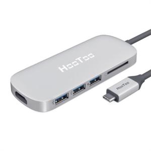 HooToo USB-C hub 3v1 za MacBook Pro - silver HT-UC001