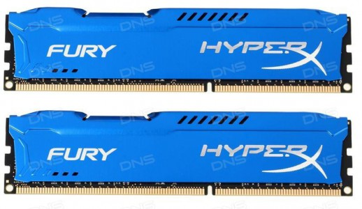 KINGSTON  DDR3 16GB PC 1866 CL10 KIT (2x8GB) HyperX Fury Blue