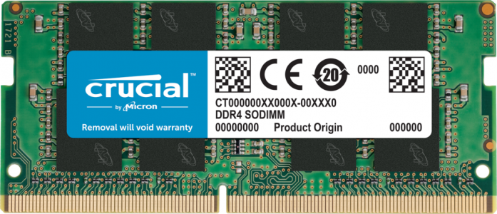 Crucial 4GB DDR4-2666 SODIMM PC4-21300 CL19, 1.2V