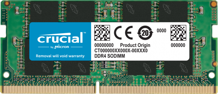 Crucial 8GB DDR4-3200 SODIMM PC4-25600 CL22, 1.2V