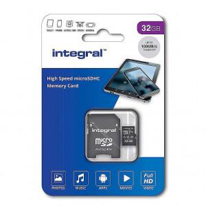 Integral 32GB High Speed microSDHC/XC V10 UHS-I U1