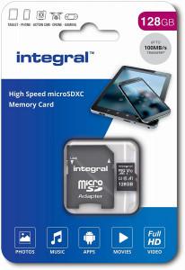 Integral 128GB High Speed microSDHC/XC V10 UHS-I U1