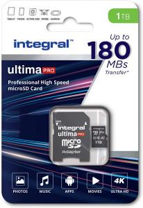 Integral 1TB Professional High Speed 180MB/s microSDXC V30 UHS-I U3